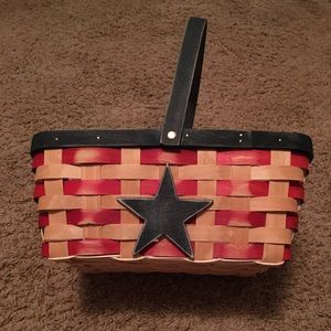 Patriotic decorative basket